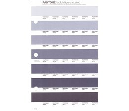 Pantone PMS Solid Chips vervangingspagina op uncoated papier 244U, kleurnummers 434U - 435U - 436U - 437U - 438U - 439U - 440U