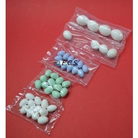 Artificial Egg Exotics / Canary White 12 Pieces