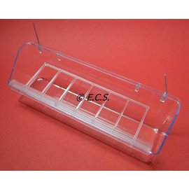 Hanging bin with Grid Transparent