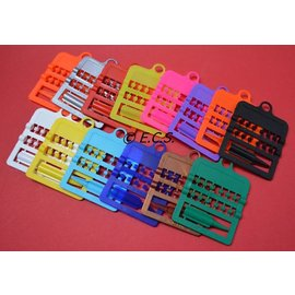 Splitring Plastic 2.5 mm Set of 12 pieces