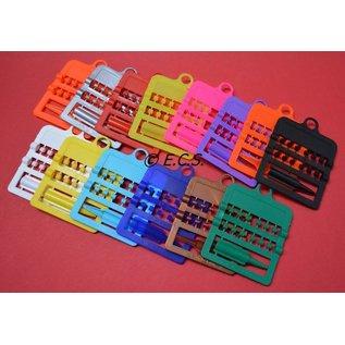 Splitring Plastic 2.5 mm Set of 12 pieces