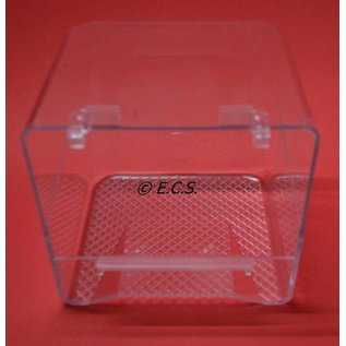 Bath House Transparent with Lip and Hook