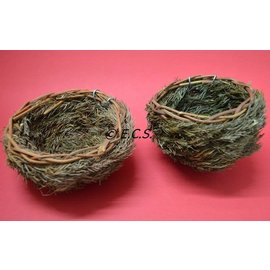 Pine Nest With Hook 12cm
