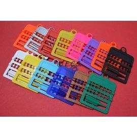 Splitring Plastic 3.0 mm Set van 12 Stuks