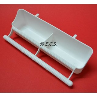 Hanging box with Perch White 2 Box 18cm