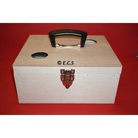 ECS transport box with flap