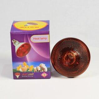 Infrarood straler 100 Watt Rood glas