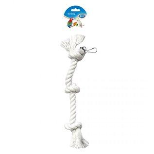 parkieten / papegaaien touw 3 knopen 38cm