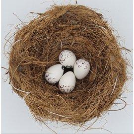 Porcelain Artificial Eggs Mask Bullfinch per 10