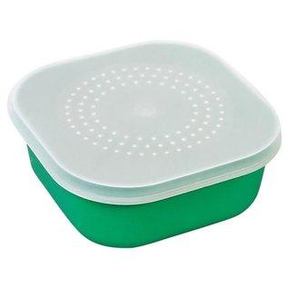 ECS Aasdoos kunstof groen vierkant (madendoos) 1liter