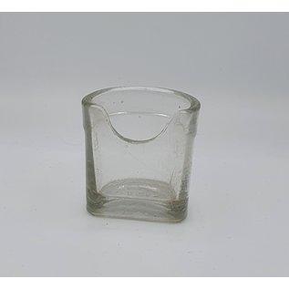 Voer-water bakjes glas voor zangkooi