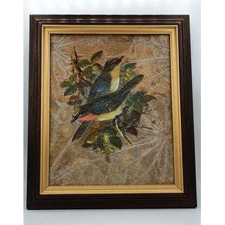 Copy of Vogel Schilderij op tabaksbladeren (A)