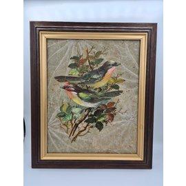 Copy of Vogel Schilderij op tabaksbladeren (H)