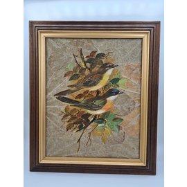 Copy of Vogel Schilderij op tabaksbladeren (K)