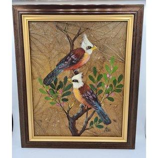 Copy of Vogel Schilderij op tabaksbladeren (T)
