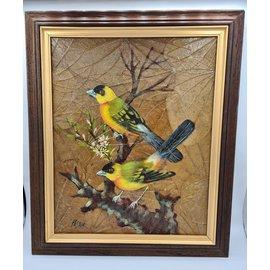 Copy of Vogel Schilderij op tabaksbladeren (U)