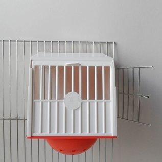 Voorhangnest Kunststof Met Los Nest Wit oranje ( oranje actie)