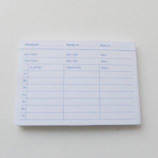 Kweekkaart 25 Stuks voor houder met draad