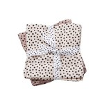 Done By Deer Done by Deer Burp Cloth 2-pack Happy Dots Powder