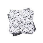 Done By Deer Done by Deer Burp Cloth 2-pack Happy Dots Grey