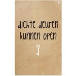 Zinvol Wenskaart Zinvol Dichte Deuren Open