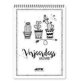 Jots Jots Verjaardagskalender Zwart/Wit