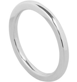 Ohlala Round Shiny Steel 2mm Zilver