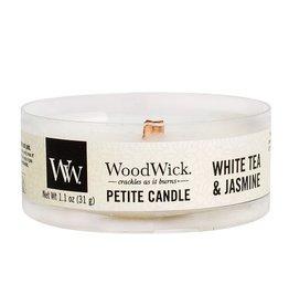 Woodwick Woodwick White Tea & Jasmine Petite heartwick candle