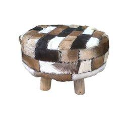 Round ottoman stool goat 61cm