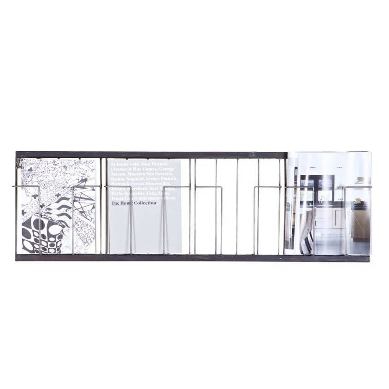 Be Pure Home Paper Tijdschriftrek Metaal Zwart 104x32