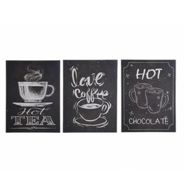 Tekstbord hot drinks assorti