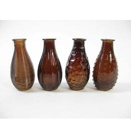 Vase Glass Brown ass.