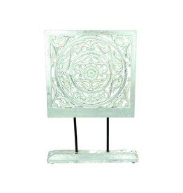 Ornament MDF White-Silver