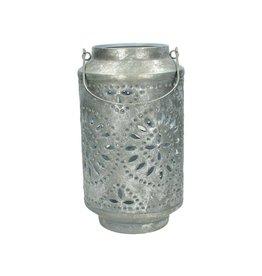 Lantern Metal Silver 18x31cm
