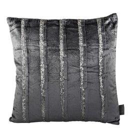 PTMD PTMD Velvet Glitter Blue Cushion With Fill Square S