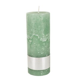 PTMD PTMD Rustic Green Pillar 18x7cm