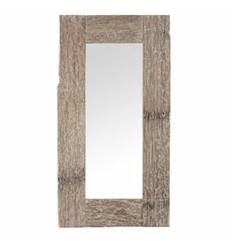 PTMD PTMD Sal Wood White Wash Rectangle Mirror