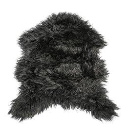 PTMD PTMD Faux Black fur sheepshape carpet