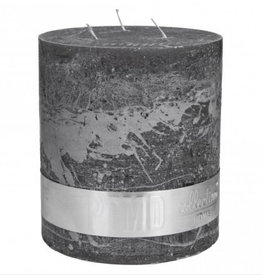 PTMD PTMD Rustic Swish Grey 3 Wick Candle 18x16cm