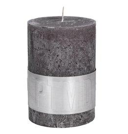 PTMD PTMD Rustic Swish Grey Pillar Candle 10x7cm