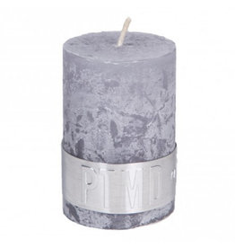 PTMD PTMD Rustic Suede Grey Pillar Candle 6x4cm