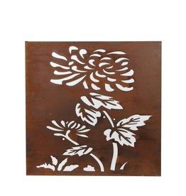 Mica Wanddeco bloem metaal roest - l59xb59xh3cm