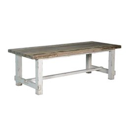 Tower Living Daan Dining Table 200cm White Grey Vintage