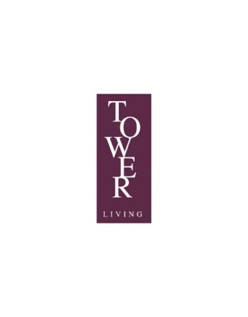 Tower Living Amanda Vitrine 2drs. Grey White