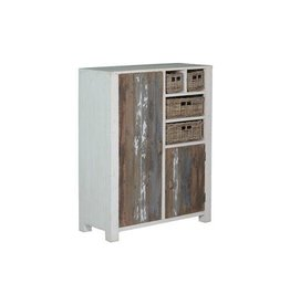 Tower Living Daan Cabinet 2 deurs White Grey Vintage