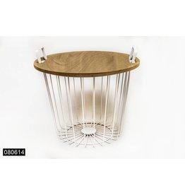 Metalen mand/tafel 45x39cm