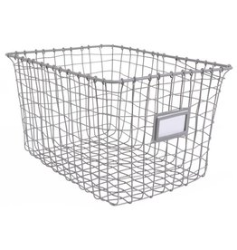 KidsDepot KidsDepot Wire Basket Grey
