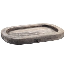 PTMD PTMD Simple Grey Ovale Wood Plate S