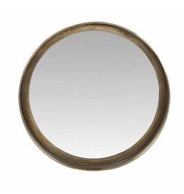 Spiegel rond messing dia 40x5.5 cm.