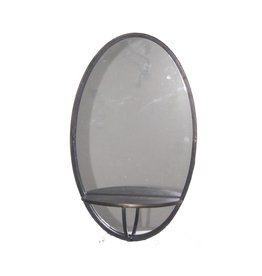 PTMD PTMD mirror silver metal wall mirror oval L